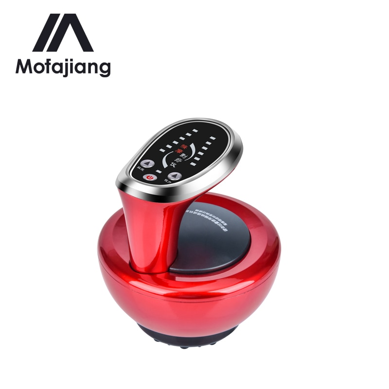 Electric Cupping Scraping Massager Guasha Suction Scraping Slimming Massage Body Device Fat Burning Meridian Heating Therapy electric breast massager chest enlarger enhancer vacuum meridian therapy body scraping cupping anti cellulite massage machine
