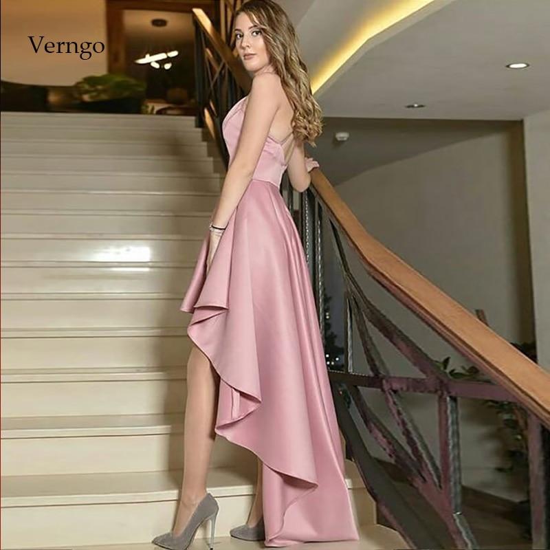 Verru-فستان سهرة ساتان وردي ، بسيط ، رسمي ، حفلة موسيقية ، 2021