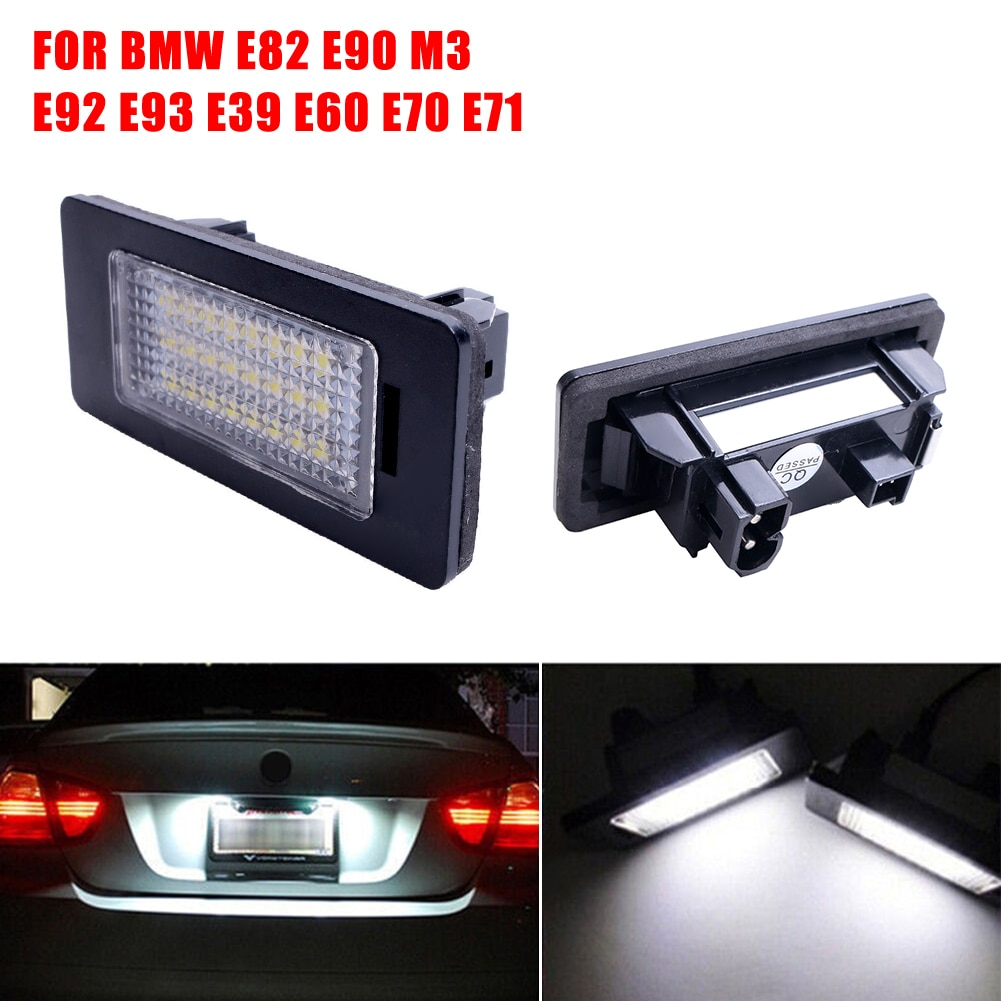 2pcs24led License Plate Number Lights For Bmw E90 M3 E92 E70 E39 F30 E60 E61 E93 For Automotive Goods Car Lamps Accessories
