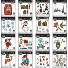 Troqueles de corte de Metal para Navidad, plantilla de corte de Halloween, decoración de manualidades de papel de álbum de recortes, cuchillo, molde de cuchilla, punzón, novedad de 2021