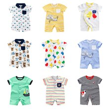 2021 Newborn Cotton BabyJumpsuit Short-Sleeved Baby Clothing One-piece Summer Male Baby Clothes Boy