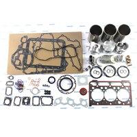 D1703 Engine Rebuild Kit Pistons Liners Overhaul Gasket Kits for Kubota Bobcat 325C Mini Excavator L3300DT