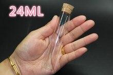 5 pièces 22*90mm 22ml souhait Tube bouteille petit vide clair liège verre bouteilles flacons pour mariage vacances décoration cadeaux de noël