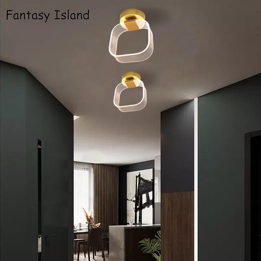 ouro conduziu a luz do corredor criativo luz moderno e minimalista personalidade