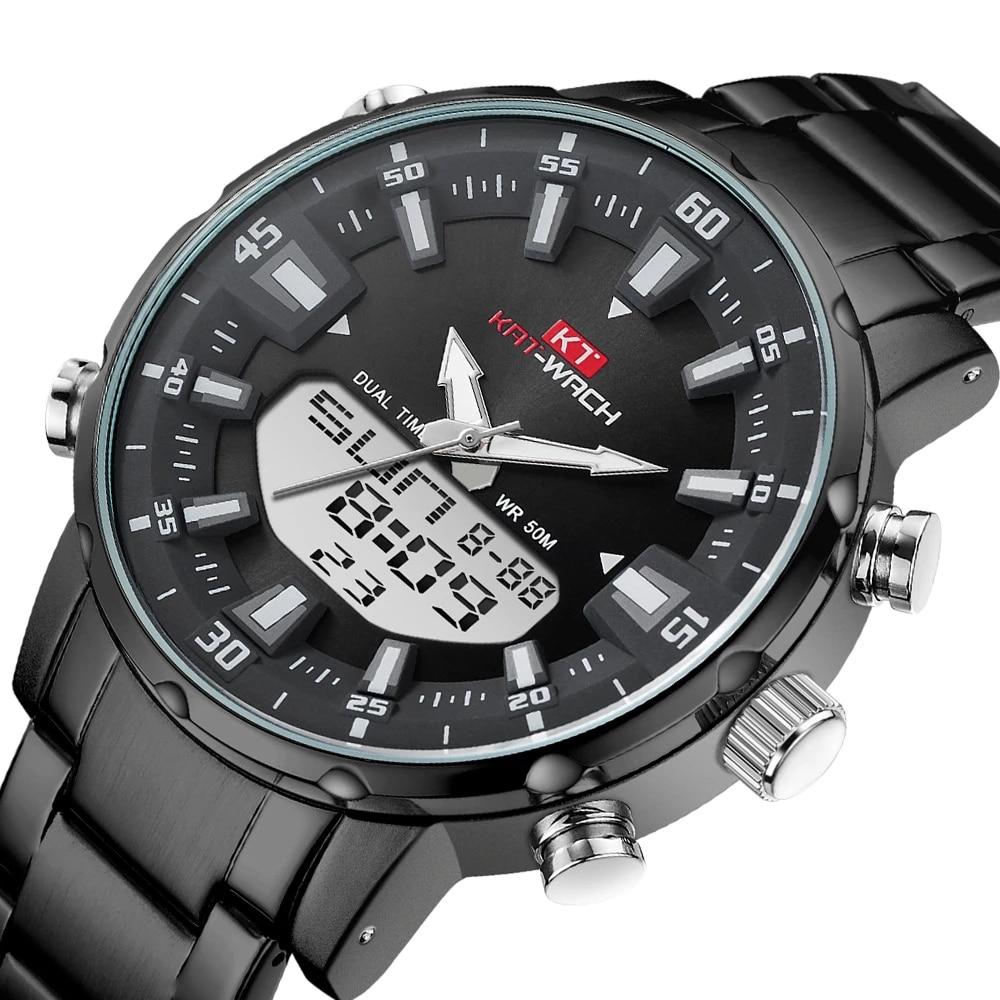 KAT-WACH Watch Male 2020 Sports Digital Watches Men Waterproof Steel Military Quartz For Wristwatch Relogio Masculino