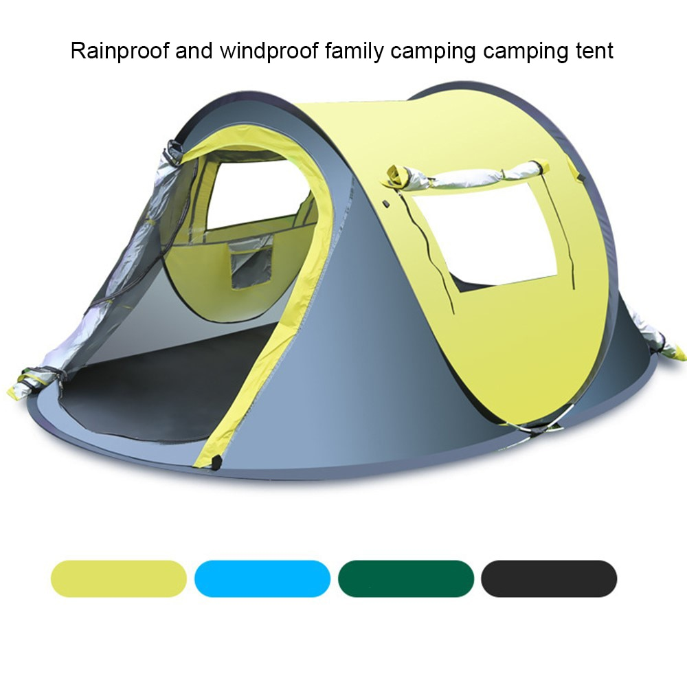 3-4 Person Automatic Windproof Waterproof Pop Up Fast Opening Camping Tent Large Gazebo Beach Tent Camping Hiking tent Survival