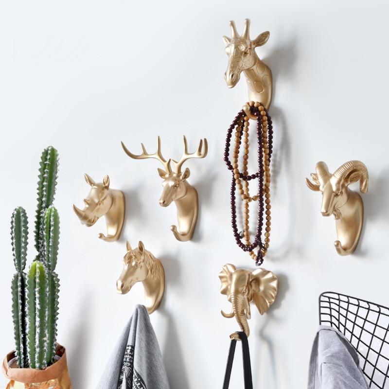 Ključevi vješalica kreativni američki nosač kuka za zid zidni kući jaka bešavna ljepljiva kuka ukrasna kuka kreativne kuke u obliku životinja