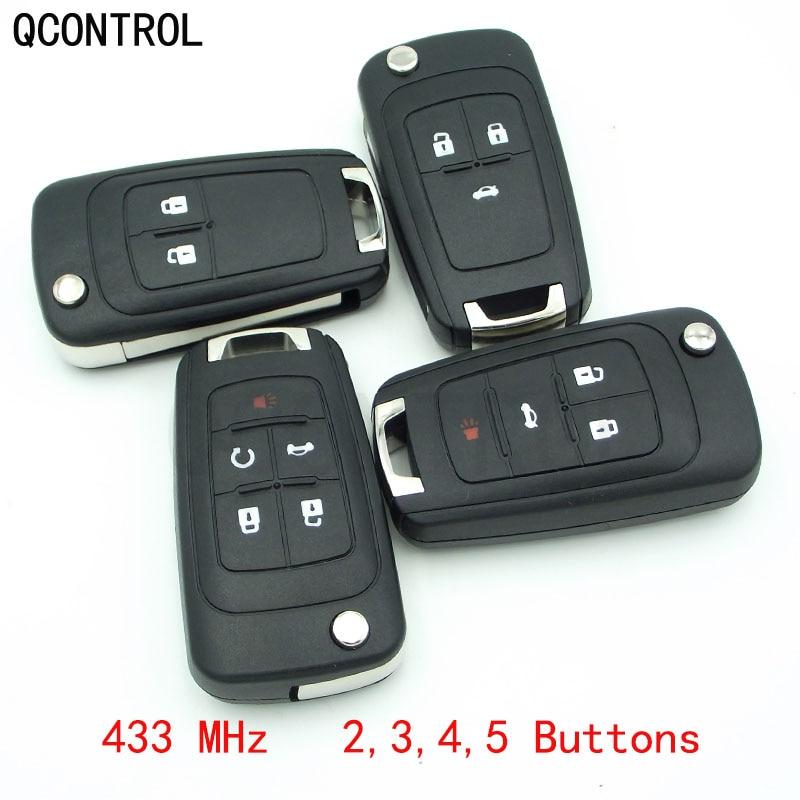 Qcontrol 2/3/4 Knoppen Auto Afstandsbediening Sleutel Diy Voor Chevrolet Malibu Cruze Aveo Spark Sail 433 Mhz Controle Alarm fob