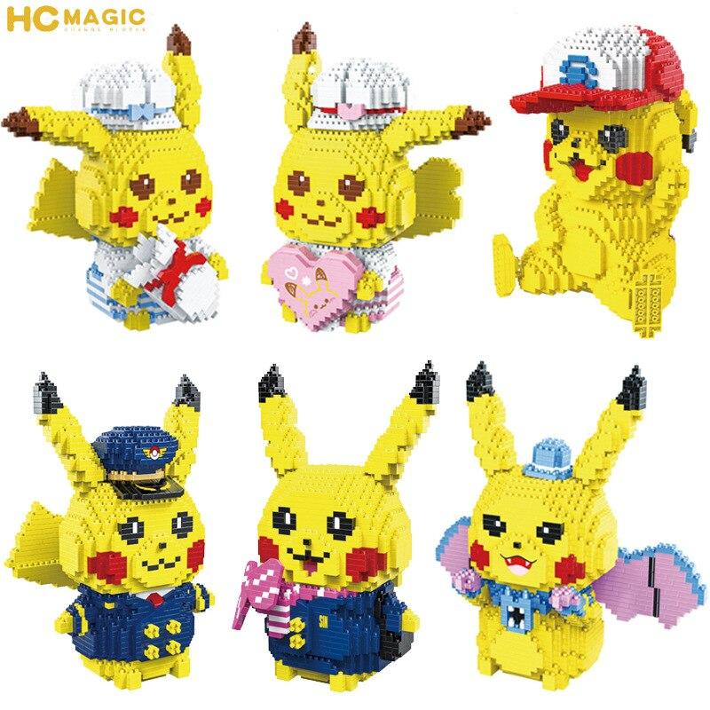 Bloques mágicos Micro HC, juguetes de edificios de dibujos animados, modelo de Anime, juguetes de figuras de subasta Brinquedos para niños, regalos para niñas encantadores 9087