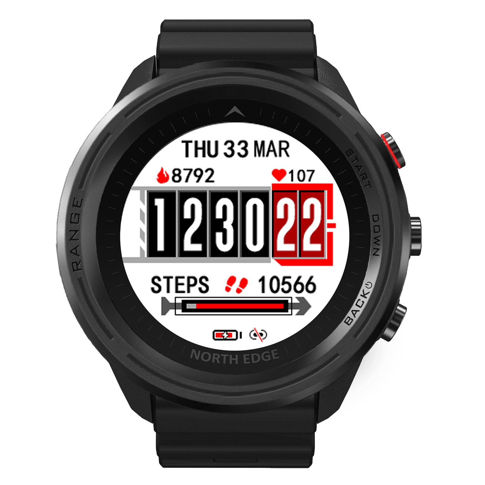 Promo For NORTH EDGE Smart Waterproof Fitness Tracker Monitor High Pressure Compass Temperature Bluetooth Heart Rate Dive Watches
