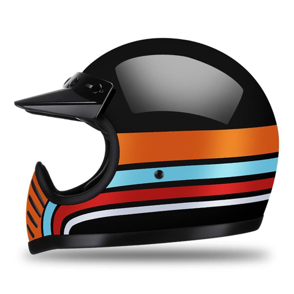 AMZ New DOT Fiberglass Motorcycle Helmet casco moto Motocross Helmet Vintage Motorbike Full Face capacete cascos para moto