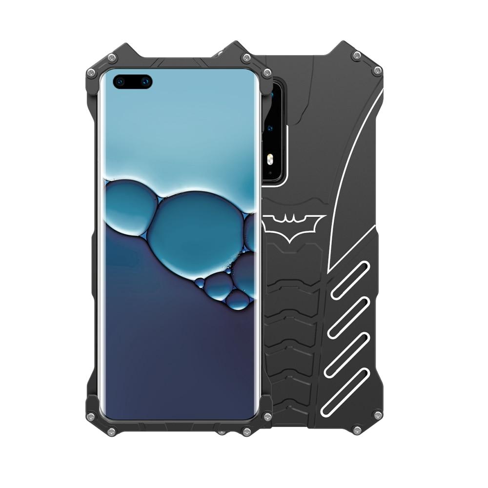 R-just-جراب هاتف معدني ، جراب مقاوم للصدمات لهاتف Huawei P40 P30 Pro ، P40 Pro مع حامل