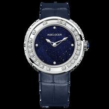 AGELOCER-montre pour femmes, saphir, montre-bracelet en cuir diamant, étanche, marque supérieure