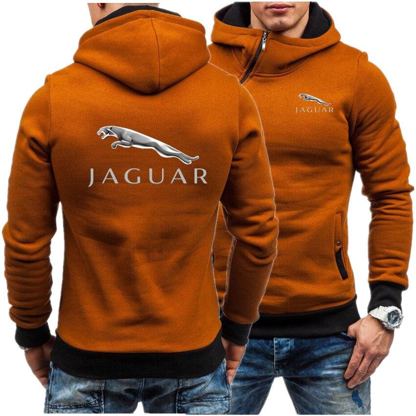 Мужская повседневная толстовка с капюшоном и надписью на автомобиле Jaguar 2021, Мужская толстовка, Мужская толстовка на молнии в стиле хип-хоп, ...