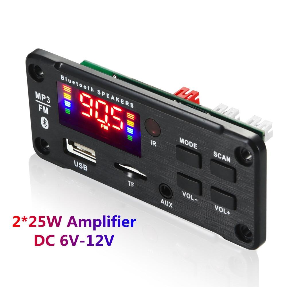 Usb fm mp3 bluetooth модуль беспроводной Bluetooth 12 в MP3 WMA декодер плата MP3-плеер с дистанционным управлением Поддержка USB TF