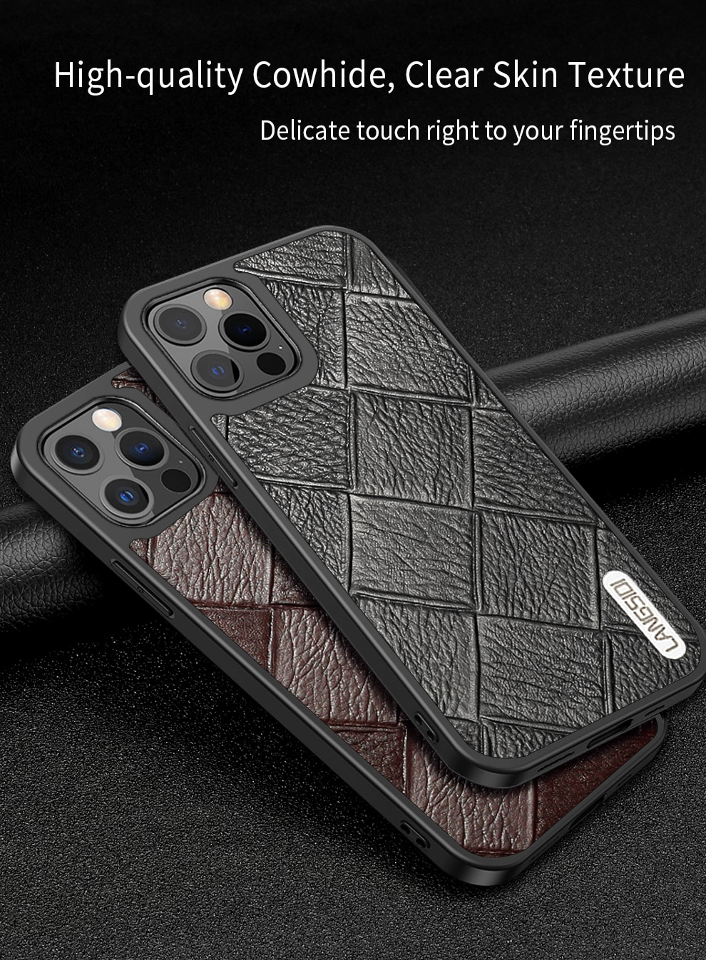iphone 12 pro max leather case 3