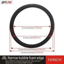 DIYLIVE 15 بوصة رغوة حافة 15 بوصة JBL ضيق رغوة إصلاح ملحقات رغوة حافة طيات حول حافة مضخم الصوت
