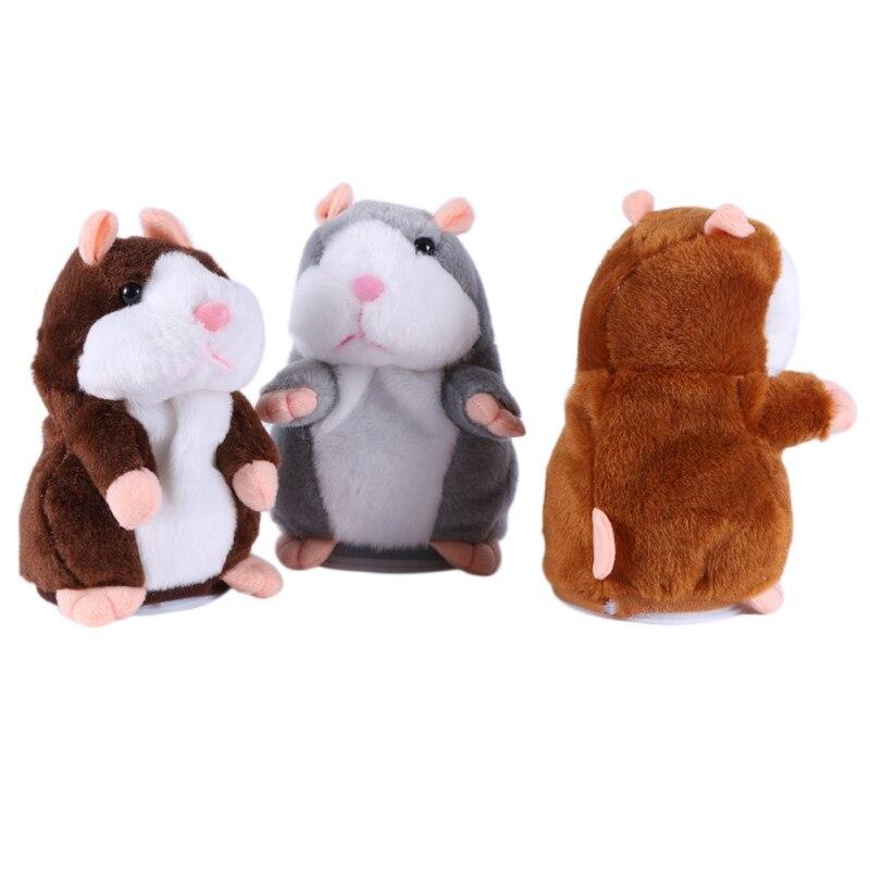 Новый стиль милый говорящий хомяк плюшевый игрушки звукозапись чучело хомяк забавные звуковые игрушки подарок для детей и взрослых