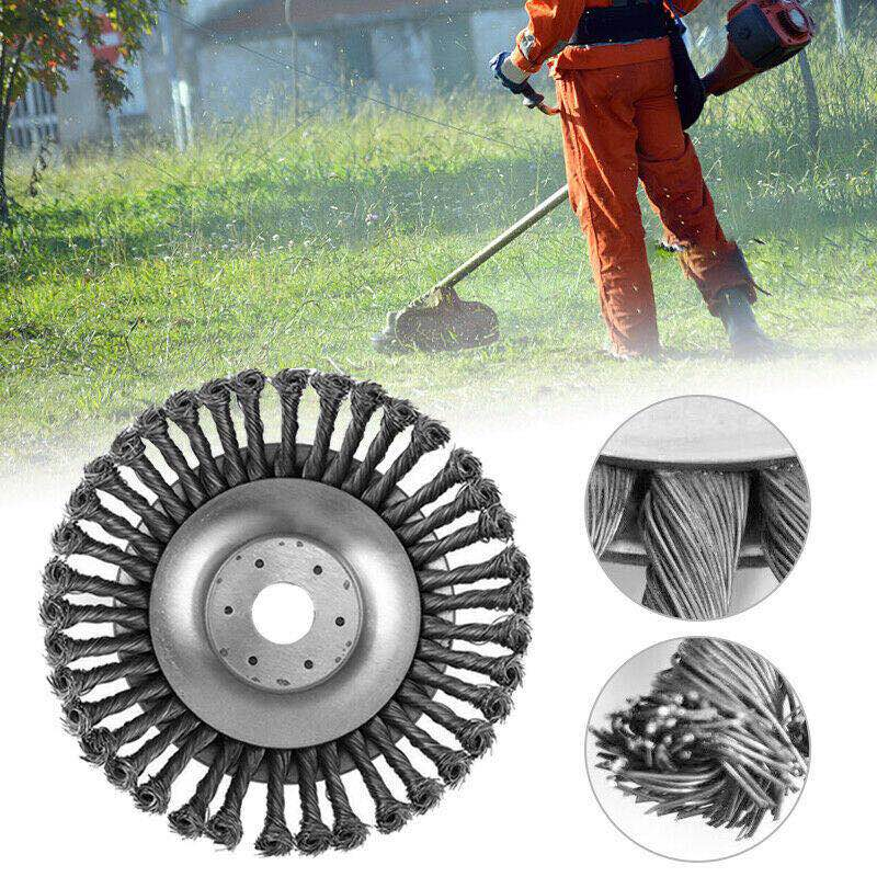 150mm/6inch Garden Lawn Grass Brushcutting Steel Wire Trimmer Head Mover Power Tools Weed Dust Remover Plate Tray for Lawnmover