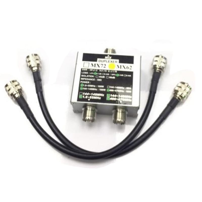 MX62 هام هوائي الموحد تردد مختلف (HF / VHF / UHF) الخطي الموحد محطة العبور دوبلكس