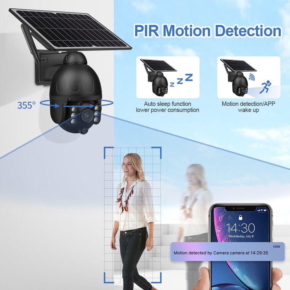 Hot Sale INQMEGA  WIFI Solar IP PTZ Cameras Starlight full color IR vision P2P  IR Vision Cloud storage camera