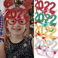 2022 new year party props number glasses frame happy new year photo props family eve party decoration home parties kids gift