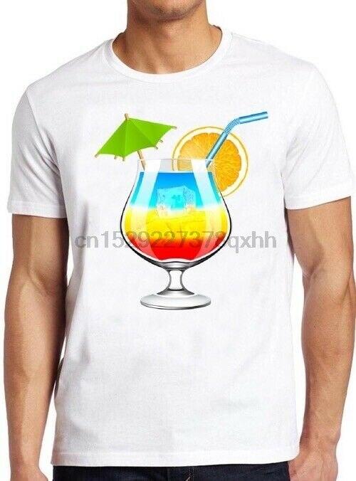 Camiseta de cóctel Arco Iris Hawai LGBT Orgullo Gay divertido regalo Soho Londres Tee 337