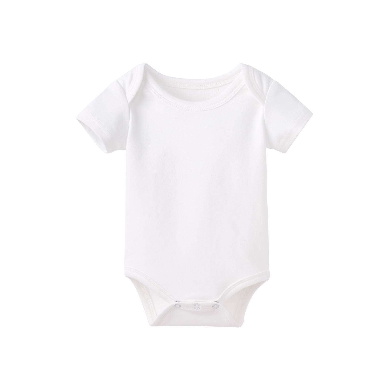 Pureborn Newborn Unisex Baby Bodysuit Solid Baby Girl Onesies Breathable Cotton Pull-over Baby Clothes Sleepwear Pajamas