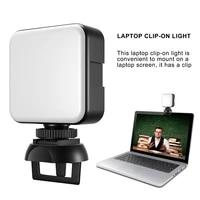 video live stream light 2500k 6500k 5w led lamp for smartphone tablet laptop notebook mini vlog fill light for selfie video