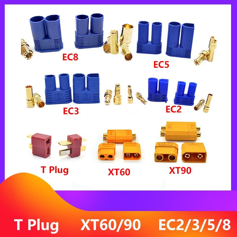 2 / 5 / 10pair XT60 XT90 EC2 EC3 EC5 EC8 t plug battery connector kit male and female Gold Plated Banana Plug for RC parts qx aluminium alloy multifunctional soldering station xt60 xt90 t banana plug