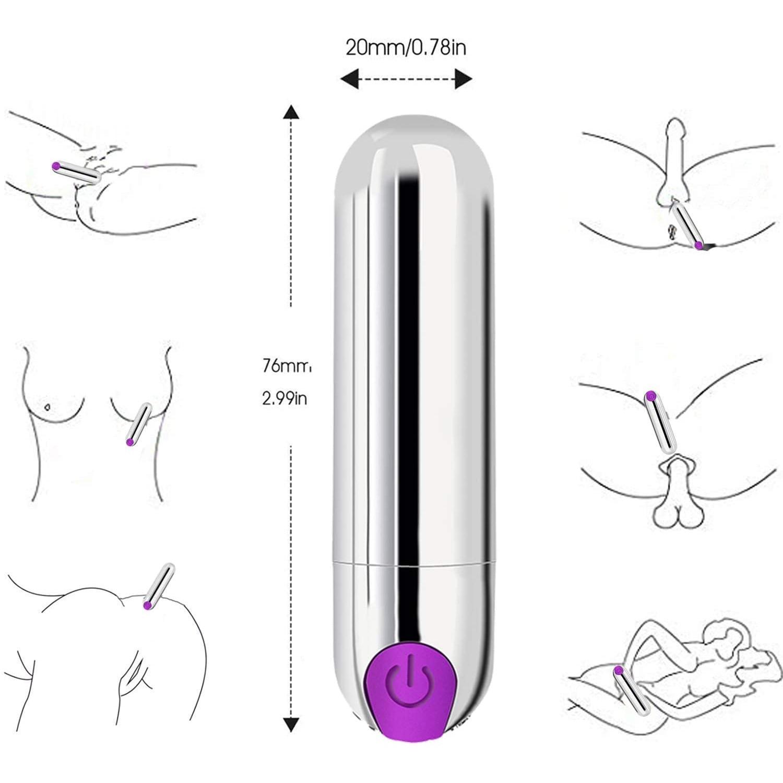 Vibrador clítoris y punto G estimulador de pezón masajeador de vibración Bullet Vibe orgasmo consolador para Vagina para viaje recargable por USB