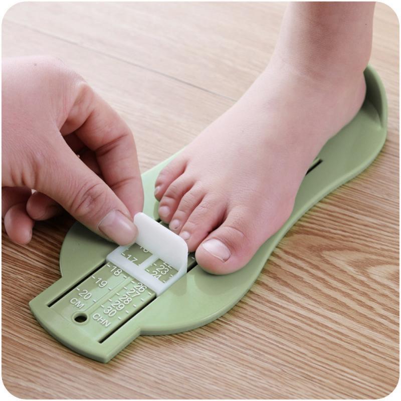 Kids Baby Infant Foot Measure Gauge Shoe Size Measuring Ruler Childrens 0-5Years Practical Artifact Shoes Size Measuring Ruler
