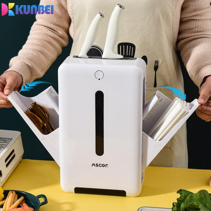 Kunbei Sterilization cutting Board Knife Holder chopstick holder intelligent drying UV sterilizer touch kitchen storage rack