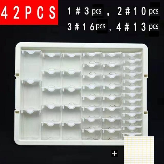 Conteneurs de forage carrés pour diamant peinture mosaïque outil accessoires Plaid bijoux diamant broderie boîte de rangement transparente