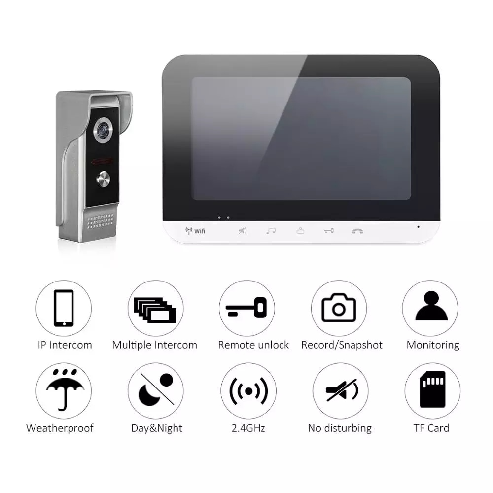 Smart Mobile Phone app Remote Unlock Home Access Control Smart Home Wifi Video Doorbell Intercom System IOS/Android enlarge