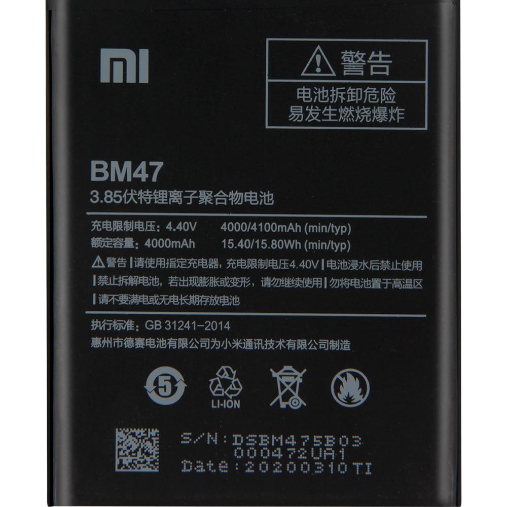 XIAOMI Original BM47 Phone Battery For Xiaomi Redmi 3 3S 3X 4X Pro Redmi Note 4 4X 4X Pro Mi5 BN43 BN41 BM46 Replacement Battery enlarge