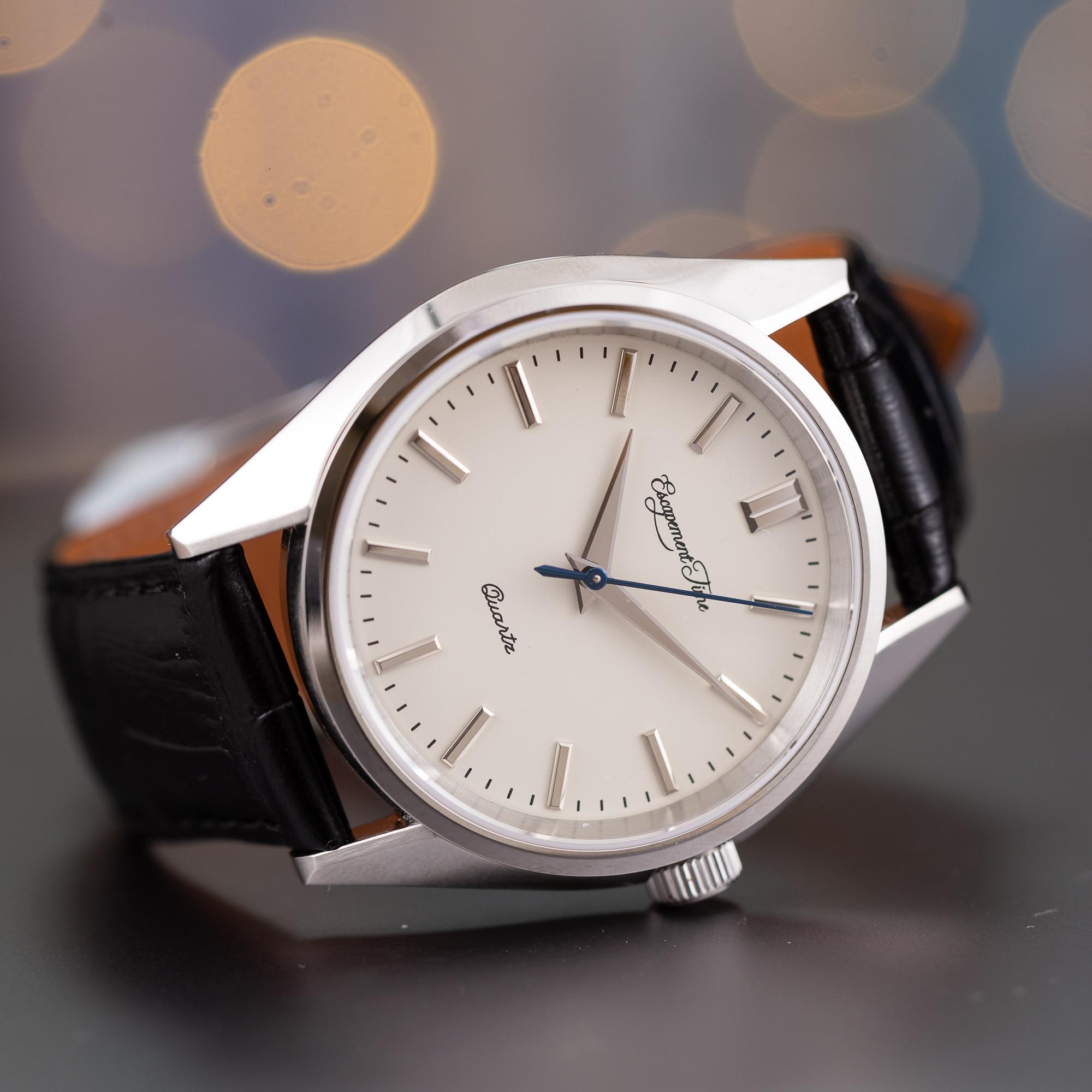 【Escapement time】Quartz Watch 40mm Case VH31  Heat Treatment Hand