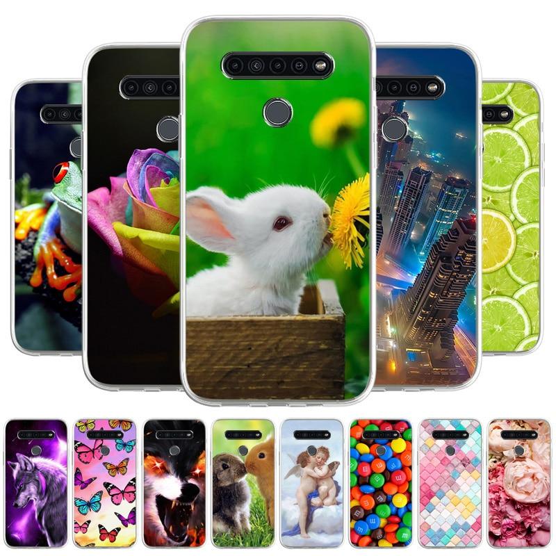 For LG K40S Cases TPU Silicon Case On LG K41S K 41S K 40S Cover Skin Soft Protective Shell Fundas Cute Cartoon Coque Etui Cover