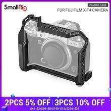 Клетка для фотоаппарата SmallRig X T4 для FUJIFILM, клетка из алюминиевого сплава с креплением холодного башмака/НАТО рельсовые аксессуары для видеокамеры 2808