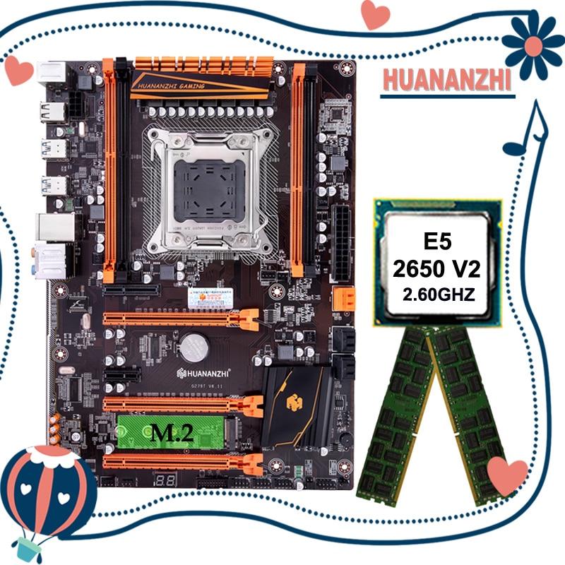 Huananzhi deluxe x79 placa-mãe com xeon e5 2650 v2 cpu e 8g (2*4g) ddr3 recc ram todos ser testado antes do envio