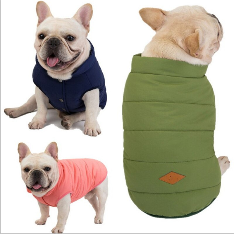 New Fashion Dog Winter Pet Dog Clothes For Dogs Coat Jacket Cotton  French Bulldog Clothing For Dogs Pets Clothing