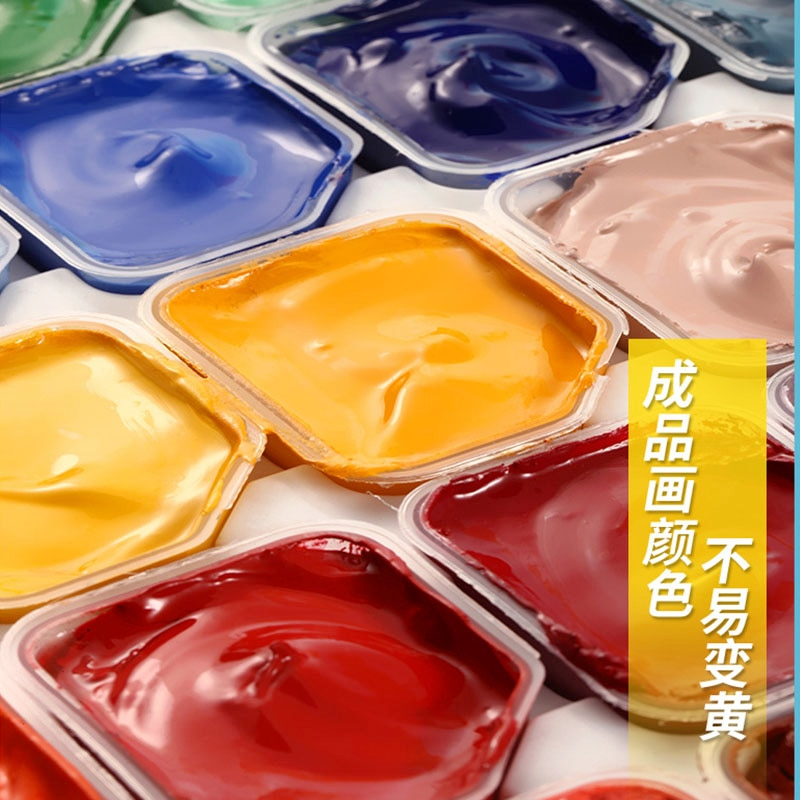 Marley jelly gouache painting set 54 colours 30ml painting students of the professional special painting craft aquarela supplies enlarge