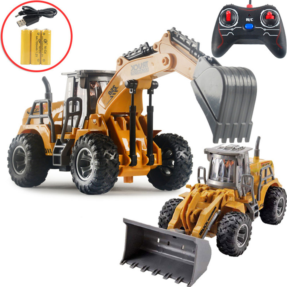 1:32 RC Dump Truck Mini Remote Control Loader Diecast Metal Model Construction Vehicle Toys for Boys Birthday Gift Collection