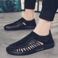 men sandals 2020 outdoor shoes summer beach walking flat handmade roman closed toe for vietnam fisherman fashion designer mens