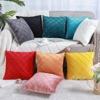 solid velvet pillow covers throw cushion covers premium soft pillows cushion case for sofa bed chair pillows insert cushion case