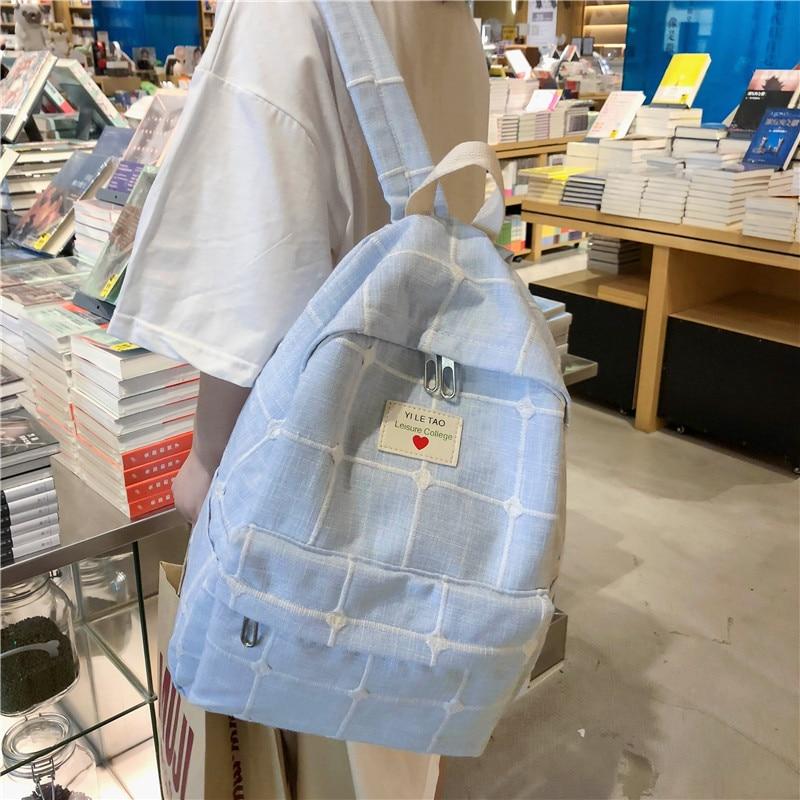 Backpack High Quality Women Backpack Travel Bag Canvas Rucksack College School Bags For Teenage Girls Mochila De Mujer