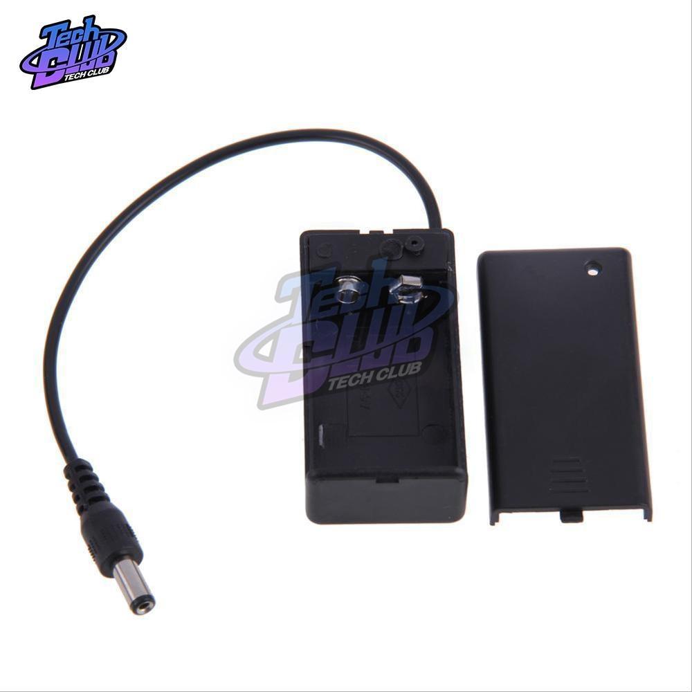9v pp3 bateria titular caixa caso com fio chumbo ligar/desligar interruptor portátil battey pacote capa + dc 2.1mm plug