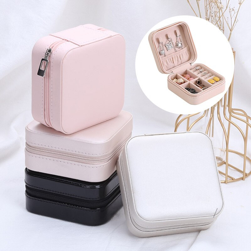 Quality Gift Packaging Box Rings Bracelet Earring Storage Boxes Portable  Jewelry Boxes Travel Decorations Finishing Gifts Boxes