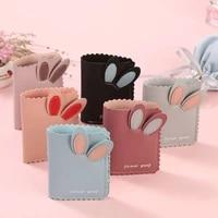 cartoon wallet hot new fashion design female wallet small cute kawaii business card holder keychain wallet girls