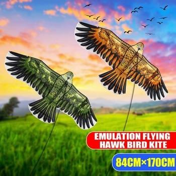 170 x 84 cm Flat Eagle Kite Children Flying Bird Kites Windsock Outdoor Toys Garden Cloth Toys For Kids